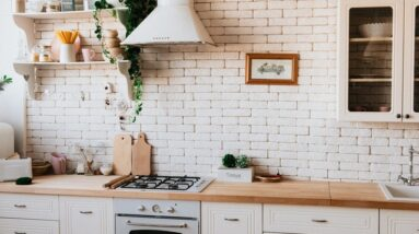 kitchen in natural shades of cream and brown